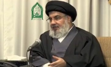 Photo of Al-Manar Documentary Shows Friday Sayyed Nasrallah in Person Addressing Fighters On Eve of Qusseir Battle