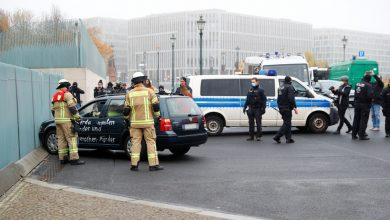 Photo of Car crashes into gate of German Chancellor Merkel's office