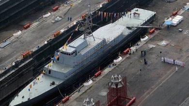 Photo of Iranian-made ocean-going warship joins IRGC's naval fleet