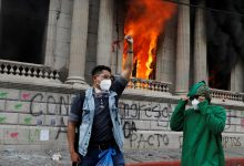 Photo of Protesters set fire to Guatemala's Congress in protests over budget cuts