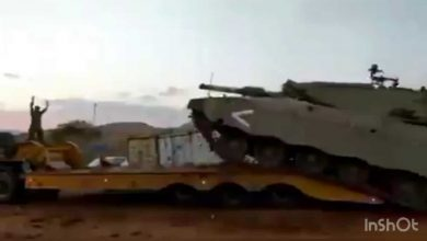 Photo of Video footage shows moment legendary Israeli Merkava tank flips over!