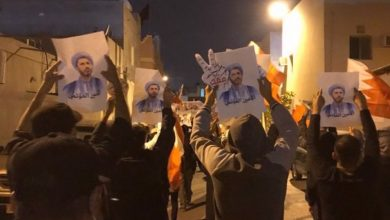 Photo of Bahrainis repeat call for Sheikh Salman's release