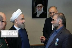 Photo of PHOTOS: Martyr Fakhrizadeh Being Honored by President Rouhani