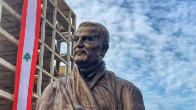 Photo of Gen. Suleimani Statue Unveiled in Beirut's Dahiyeh